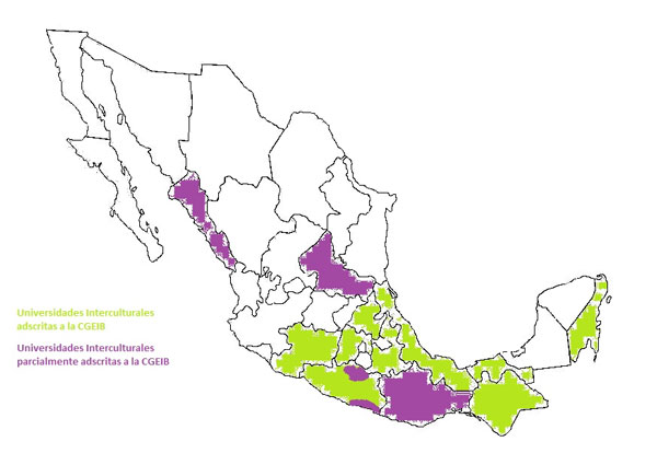 Mapa I. Universidades Interculturales en México.