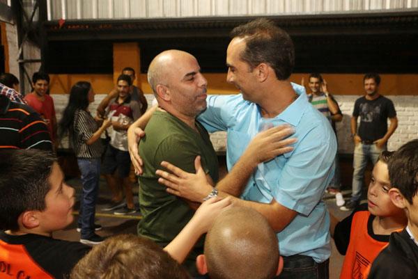 Chicho Serna y el Alcalde del Municipio de Morón, Ramiro Tagliaferro